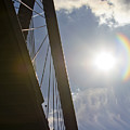 Cooper River Bridge Lens Flair by Dustin K Ryan