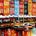 Copenhagen Denmark by Leonid Afremov