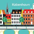 Copenhagen Kobenhavn Denmark Horizontal Scene by Karen Young