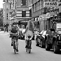 Copenhagen Lovers On Bicycles Bw by Catherine Sherman