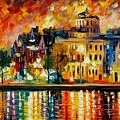 Copenhagen Original Oil Painting  by Leonid Afremov