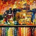Copenhagen Original Oil Painting  by Leonid Afremov