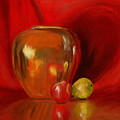 Copper Pot And Fruit by Mary Benke