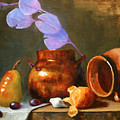 Copper Pot With Clay Pot  by Keith Nolan