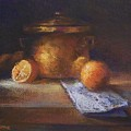 Copper Pot With Oranges by Tom Forgione