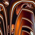 Copper Shields by Ron Bissett