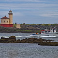 Coquille River Light by Harold Rau