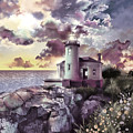 Coquille River Lighthouse 2 by Bekim Art