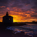 Coquille River Lighthouse Sunrise by Robert Potts