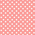 Coral Pink Polka Dots by Bimbys Collections