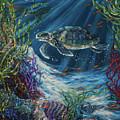 Coral Reef Turtle by Linda Olsen
