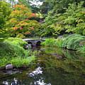 Corbel Arch Bridge Japanese Garden Maymont I by Karen Jorstad