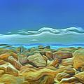 Corfu 3 - Surreal Rocks by Leigh Kemp
