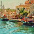 Corfu 39 - Boats Paxos by Leigh Kemp