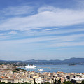 Corfu Town And Port With Cruiser Cityscape by Goce Risteski