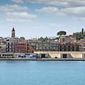 Corfu Town Port With Warehouses by Goce Risteski