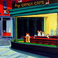 Corgi Cafe After Hopper by Lyn Cook