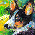 Corgi Dog Portrait by Svetlana Novikova