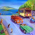 Corgi Trolley On Hyde Street by Lyn Cook