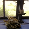 Corn And Candle by Mary Rogers