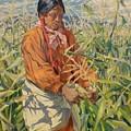 Corn Picker 1915 by Walter Ufer