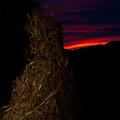 Corn Shock At Twilight by Douglas Barnett