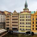 Corner Buildings In Prague by Svetlana Sewell