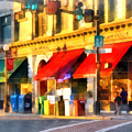 Corner Of Center And Merchant Rutland Vt by Susan Savad