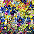 Cornflowers Impressionist Oil Painting by Ginette Callaway