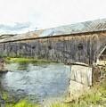 Cornish Windsor Covered Bridge Pencil by Edward Fielding