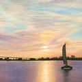 Coronado Bridge Sunset  B by Michael Heikkinen