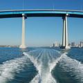 Coronado Bridge Wake by Christine Owens