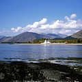 Corran Lighthouse Western Shore Loch Linnhe Fort William Scotland by Michael Walters