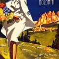 Cortina Dolomiti Italy Vintage Poster Restored by Vintage Treasure