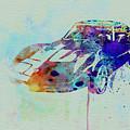 Corvette Watercolor by Naxart Studio