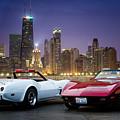 Corvettes In Chicago by Darek Szupina Photographer