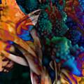 Cosmic Flower by Anastasiia Klymenko