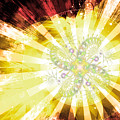 Cosmic Solar Flower Fern Flare 2 by Shawn Dall