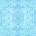 Cottage At The Shore Sky Blue Pattern Modern Watercolor Dots by Audrey Jeanne Roberts
