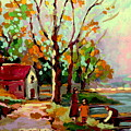Cottage Country The Eastern Townships A Romantic Summer Landscape by Carole Spandau