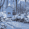 Cottage In The Woods by David Zimmerman