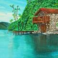 Cottage On Lake  by David Bigelow