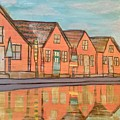 Cottages By The Beach by Monica Martin