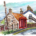 Cottages In Runswick Bay by Miki De Goodaboom
