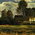 Cottages On The Dachau Marsh 1902 by Marc Franz