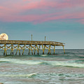 Cotton Candy Moonrise by Charles Lawhon