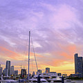 Cotton Candy Sunset Over Miami by Ken Figurski