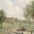 Coubron Ascending Path by Jean Baptiste Camille Corot