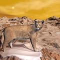 Cougar In The Mountain - 3d Render by Elenarts - Elena Duvernay Digital Art