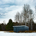 Country Barn In The Snow by Wesley Farnsworth